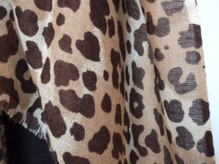 100% Pashmina Cashmere Diamond Weave Leopard Shawl