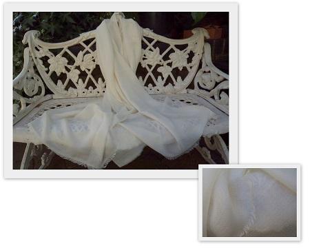 100% Pashmina Cashmere Diamond Weave Large Shawl
