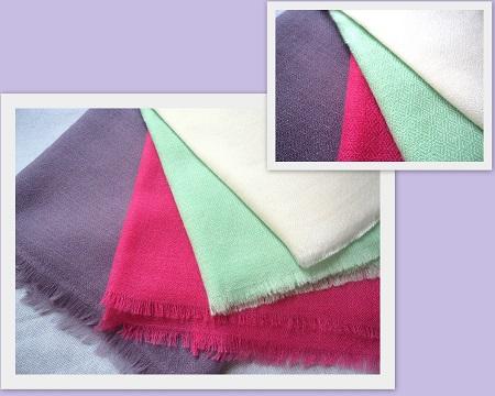 100% Pashmina Cashmere Diamond Weave Shawl