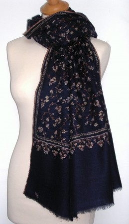 100% Pashmina Cashmere traditional hand embroidered Large Shawl