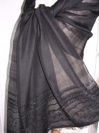 Lightweight Pashmina Cashmere & Kattan Silk Shawl Style A86