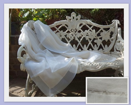 100% Silk Organza Shawl with 100% Pashmina reverse panel- Elegance