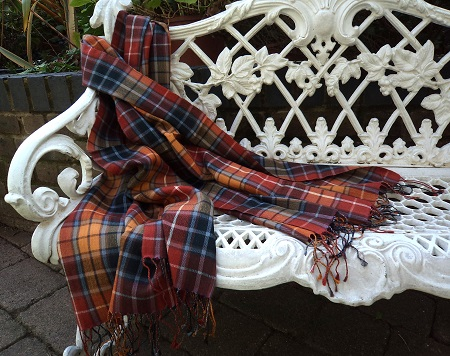 Pashmina Cashmere & Silk Large Scarf - Tartan - Ancient Buchanan