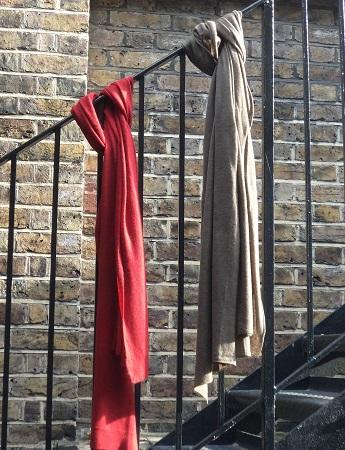 100% Pashmina Cashmere Fine Knit Scarf - Alfie