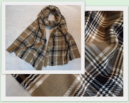 100% Pashmina Cashmere Long Scarf - Large Check
