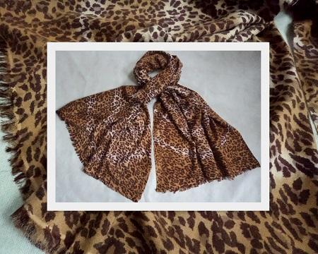 Pashmina Cashmere & Silk Shawl - Printed Classic Cheetah