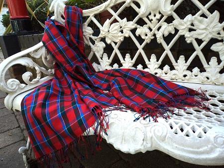 Pashmina Cashmere & Silk Large Scarf - Tartan - Sinclair