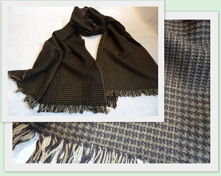 100% Pashmina Cashmere Long Scarf - Small Check